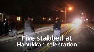 Five stabbed at rabbi's home during Hanukkah celebration [Video]