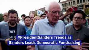 #PresidentSanders Trends as Sanders Leads Democratic Fundraising [Video]