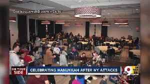 After NY attack, community celebrates last night of Hanukkah [Video]