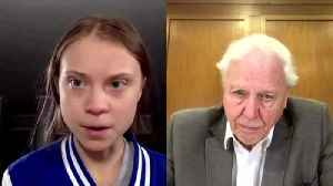 Thunberg tells David Attenborough his nature films inspired her [Video]