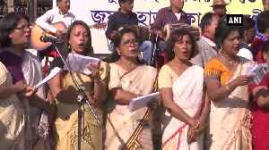 Artists prform at anti CAA protest in Guwahati [Video]