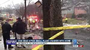 One dead after small plane crashes into home [Video]