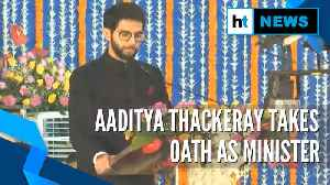 Ajit Pawar takes oath as Deputy CM, Aaditya Thackeray sworn in as minister [Video]