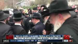 News video: Man attacks Hanukkah party at Rabbi's house in New York