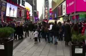 Times Square gears up for its annual NYE festivities [Video]