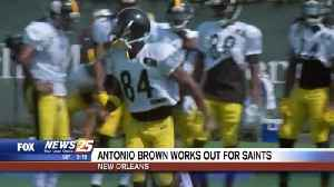 Saints work out Antonio Brown, five other receivers [Video]