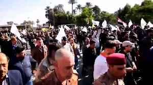 U.S. embassy in Baghdad evacuated as protesters denounce U.S. air strikes [Video]