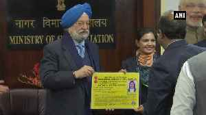 Civil Aviation Minister Hardeep Puri hands over DGCA issued licenses to Air Traffic Controller [Video]