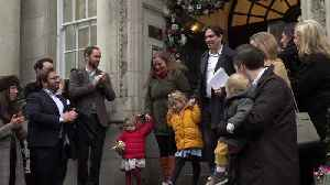 First mixed-sex civil partnerships takes place [Video]