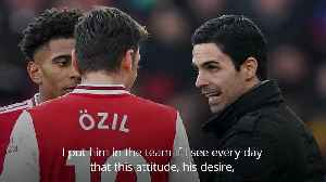 Arteta challenges Ozil to maintain performance levels [Video]