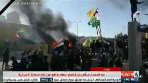 U.S. Guards Fire Tear Gas On Embassy Protesters In Baghdad [Video]