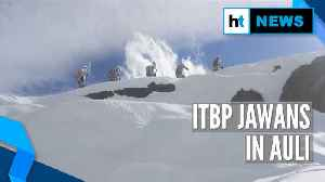 Watch: ITBP jawans mountaineering in Auli, Uttrakhand [Video]