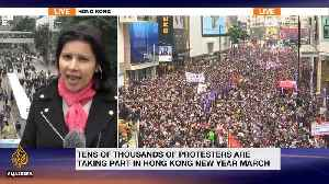 Hong Kong demonstrators demand autonomy from China [Video]