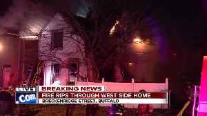 Firefighters battling massive two-alarm fire in Buffalo's Black Rock neighborhood [Video]