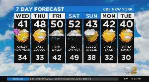 News video: New York Weather: New Year's Day Forecast