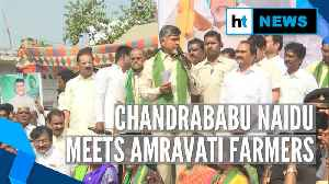 'Govt has no right': Chandrababu Naidu visits protesting Amravati farmers [Video]