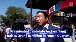 Presidential Candidate Andrew Yang Raises Over $16 Million in Fourth Quarter [Video]