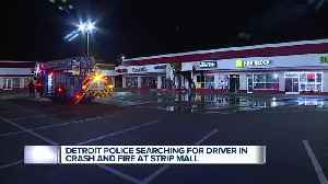 Police at scene of smash-and-grab turned building fire in Detroit strip mall [Video]