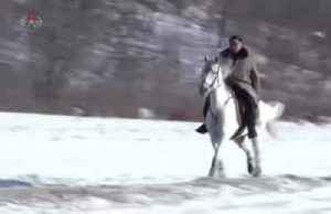 North Korea's state TV airs video of Kim riding horse at Mount Paektu [Video]