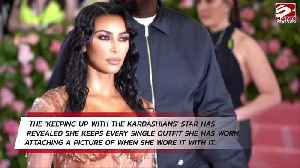 Kim Kardashian West archives all her clothing [Video]