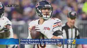 Pace: Bears Remain Committed To Trubisky As Starting QB [Video]