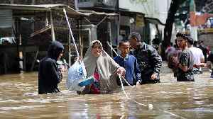 Several dead, thousands caught in flooding in Indonesian capital [Video]