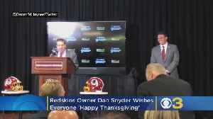 Washington Redskins Owner Dan Snyder Wishes Everyone 'Happy Thanksgiving' While Introducing New Head Coach [Video]