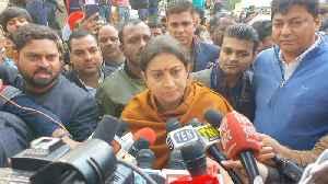 Congress party has no right to insult Savarkar: Smriti Irani [Video]