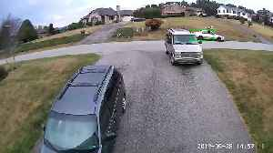 Driver Takes Out Mailbox [Video]