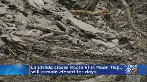 Landslide Impacting Part Of Route 51 In Moon Township [Video]
