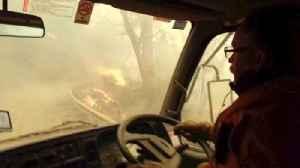 Australian Firefighters Capture Harrowing Video While Evacuating [Video]