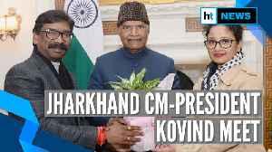 Jharkhand CM Hemant Soren meets President Kovind at Rashtrapati Bhavan [Video]