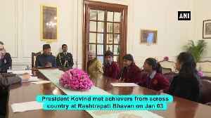 President Kovind meets sportspersons, other achievers at Rashtrapati Bhavan [Video]