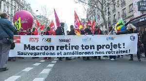 Paris pension protests continue [Video]