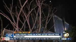 Man found dead after Encinitas house fire [Video]