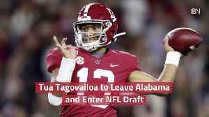 Tua Tagovailoa Wants In On The  NFL Draft [Video]