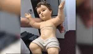 Missing baby Jesus taken from St. Lucy Catholic Church nativity scene found [Video]