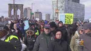 Thousands March Across Brooklyn Bridge In Anti-Hate Rally [Video]