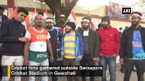 Fans cheer for 'Men in Blue' ahead of 1st T20I against SL in Guwahati [Video]