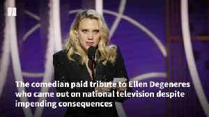 Kate McKinnon Honors Ellen Degeneres' LGBTQ Representation [Video]