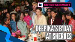 Deepika Padukone celebrates her 34th birthday at cafe run by acid attack survivors [Video]