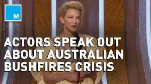 Celebrities use Golden Globes stage to speak out about the Australian bushfires crisis [Video]