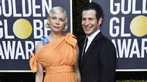 News video: Michelle Williams keeps baby bump under wraps at Golden Globes