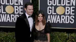 Bill Hader and Rachel Bilson attend Golden Globes together [Video]