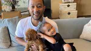 John Legend and Chrissy Teigen welcome new puppy [Video]