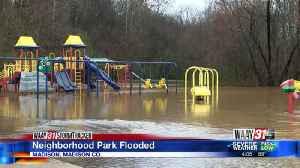 Heavy rains flood Crestwood Park playground [Video]