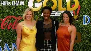 Kami Craig, Ashleigh Johnson, Maggie Steffens 7th Annual 'Gold Meets Golden' Red Carpet Fashion [Video]