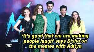 'It's good that we are making people laugh' says Disha on the memes with Aditya [Video]