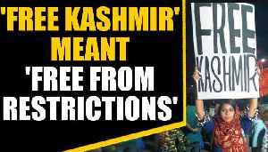 Woman holding 'free Kashmir' poster fears for her life | OneIndia News [Video]
