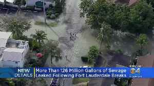 Over 126 Million Gallons Of Sewage Leaked Following Fort Lauderdale Breaks [Video]